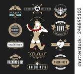 retro vintage insignias or... | Shutterstock .eps vector #246895102