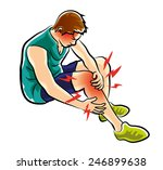 leg ache | Shutterstock .eps vector #246899638