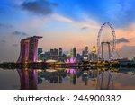 Singapore City Skyline And...
