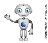 cute robot with big eyes | Shutterstock . vector #246902326
