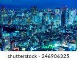 tokyo skyline  shinjuku   japan. | Shutterstock . vector #246906325