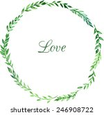 wreath of leaves  floral... | Shutterstock .eps vector #246908722
