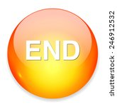 end button | Shutterstock . vector #246912532