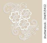 element of flower ornament.... | Shutterstock .eps vector #246915412