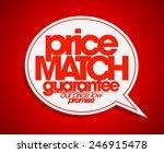 price match guarantee speech... | Shutterstock .eps vector #246915478