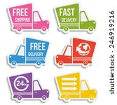 free delivery  fast delivery ... | Shutterstock .eps vector #246919216