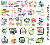 mega collection of various web... | Shutterstock .eps vector #246920452