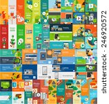 mega collection of flat web... | Shutterstock .eps vector #246920572