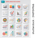 data analysis icons on buttons... | Shutterstock .eps vector #246934966