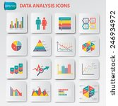 data analysis icons on buttons... | Shutterstock .eps vector #246934972