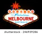 welcome to melbourne  australia  | Shutterstock . vector #246939286