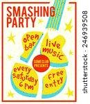 concert poster or flyer... | Shutterstock .eps vector #246939508