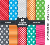 seamless patterns and textures. ... | Shutterstock .eps vector #246944722