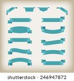 set of ribbons.ribbon banner... | Shutterstock .eps vector #246947872