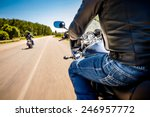 Bikers Driving A Motorcycle...