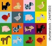 animals raster naive caricature ... | Shutterstock .eps vector #24695833