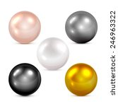 Set Of Colorful Spheres And...
