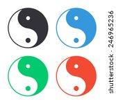 Yin Yang Symbol Icon   Colored...