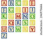 colorful alphabet baby blocks... | Shutterstock .eps vector #246970666