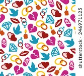love seamless pattern | Shutterstock .eps vector #246971125