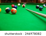 Snooker Ball On Snooker Table ...