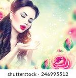 Retro Woman Portrait In Beauty...