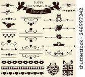 collection of various love and... | Shutterstock . vector #246997342