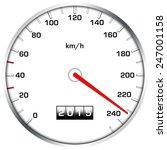 speedometer illustration with... | Shutterstock . vector #247001158
