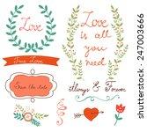 elegant  floral graphic... | Shutterstock .eps vector #247003666