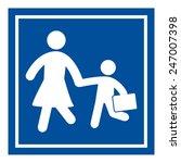 school sign | Shutterstock .eps vector #247007398