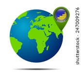 map of the world globe with... | Shutterstock .eps vector #247009276