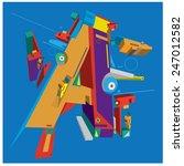 vector alphabet letter a | Shutterstock .eps vector #247012582