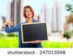 young cool woman with a... | Shutterstock . vector #247015048