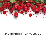 Red Roses And Heart Shape...