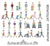 illustrations of various people ... | Shutterstock .eps vector #247019038