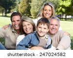 happy family over park nature... | Shutterstock . vector #247024582