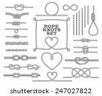 rope knots collection. seamless ... | Shutterstock .eps vector #247027822