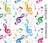 seamless background with notes  ... | Shutterstock .eps vector #247028275
