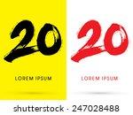 20  chinese brush grunge font ... | Shutterstock .eps vector #247028488
