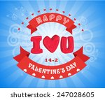 valentines day invitation... | Shutterstock .eps vector #247028605