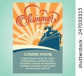 summer holiday advertising... | Shutterstock .eps vector #247033315