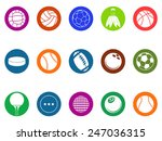 ball button icons set | Shutterstock .eps vector #247036315