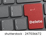 red delete key on keyboard | Shutterstock . vector #247036672