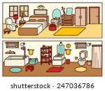 set of adjustable interior... | Shutterstock .eps vector #247036786