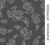 primitive birds. cartoon... | Shutterstock . vector #247043326