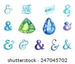hand drawn watercolor... | Shutterstock .eps vector #247045702