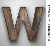 Vintage Wooden Letter W With...