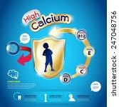 kids high calcium high and... | Shutterstock .eps vector #247048756