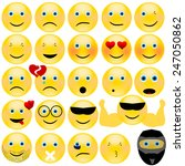 vector emotional face icons | Shutterstock .eps vector #247050862