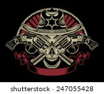 illustration of sheriff's skull ... | Shutterstock . vector #247055428